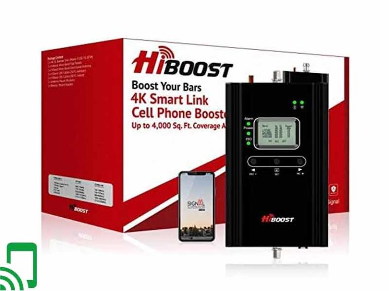 The Hiboost 4K LCD Cell Phone Signal Booster – Up to 4,000 sq ft